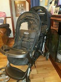 Black graco double buggy