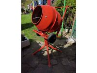Concrete Mixer 230v 100Ltr capacity - used once