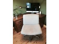 Cream/stone coloured office chair adjustable height
