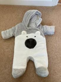 Baby boy snowsuit 0-3 months