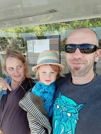 Family of four looking for a two bed home