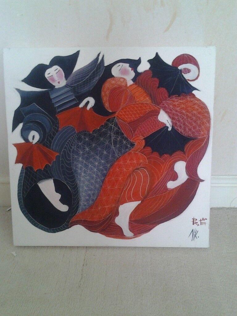 Original Japanese artwork on Canvas