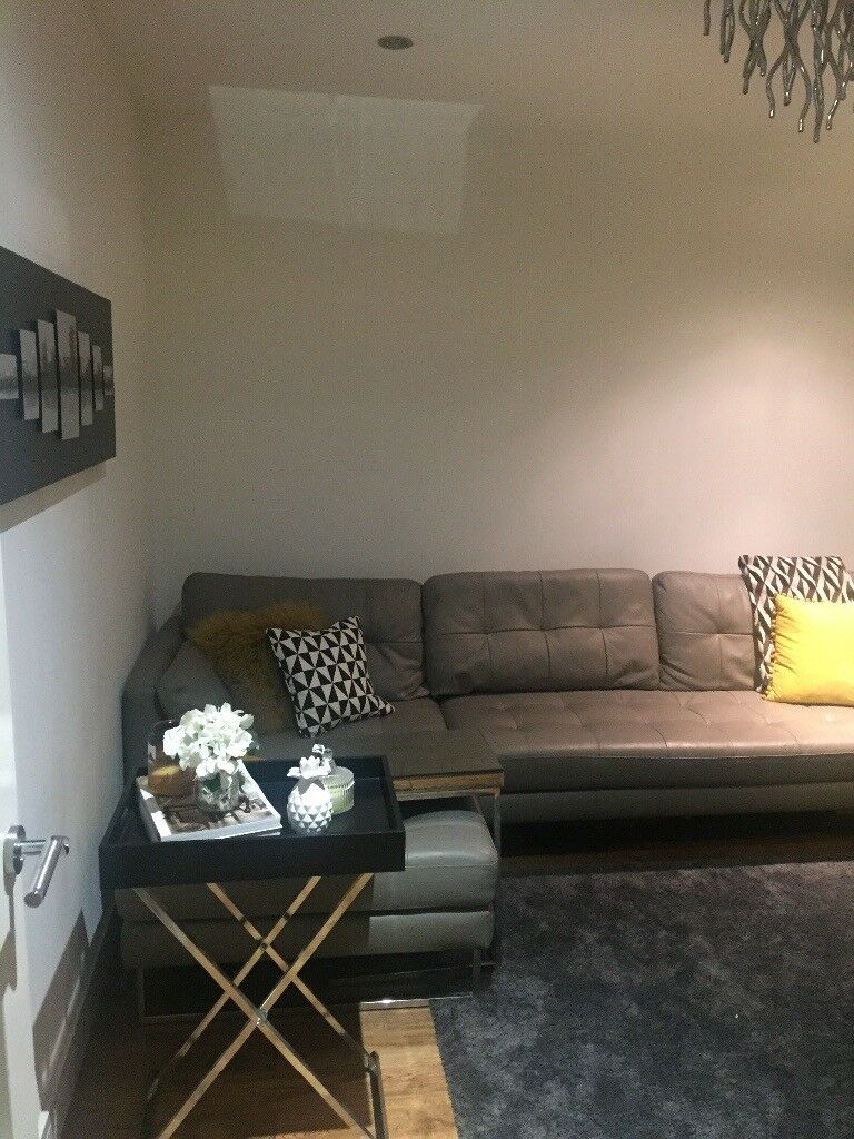 Dwell Grey L Shape Sofa