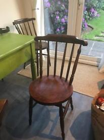 4 small antique dining chairs. Excellent condition