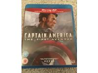 Captain America 3D and Standard Blu Ray Pack