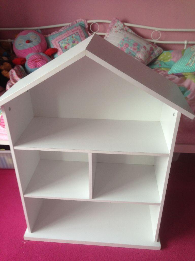 White Mia Dolls House Bookcase