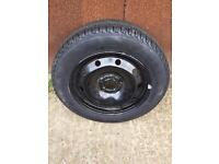 "5x100 PCD 16"" Steel Wheel & brand new 205/60R16 tyre"