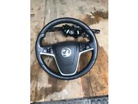 Astra j steering wheel/controls/ ignition and key £80