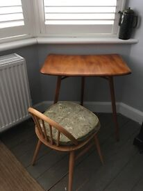 Beautiful and rare Ercol 265 extension table/desk for plank table