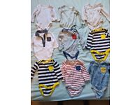 0-3 month long sleeve vests x 9