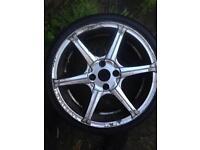 17 inch wolfrace alloys