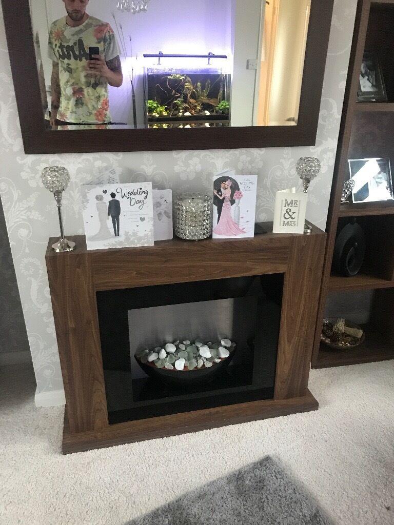 next logan walnut electric fireplace in great yarmouth norfolk
