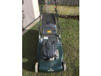 Hayter harrier 56 large self propelled roller mower cost £1200