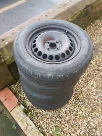 Steel wheels and tyres x4 Corsa D