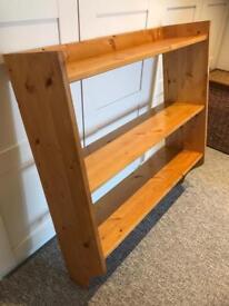 Solid pine wall shelves/ book shelves