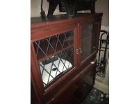 BARGAIN - Mahogany TV stand/cabinet