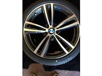 "Like new BMW Msport 19""3 & 4 series double spoke alloys with like new Pirelli P Zero run flat tyres"