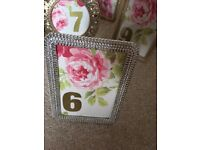 Picture Frames/Wedding table numbers
