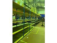 Lots of shelving rapid racking warehouses shop stock