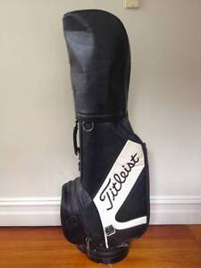 Golf Bag, All Leather Titleist Vintage, Great condition Northcote Darebin Area Preview