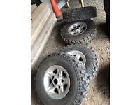 Landrover Defender Boost alloys and tyres £550 for the wheels