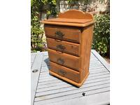 Miniature Child's Chest Of Drawers