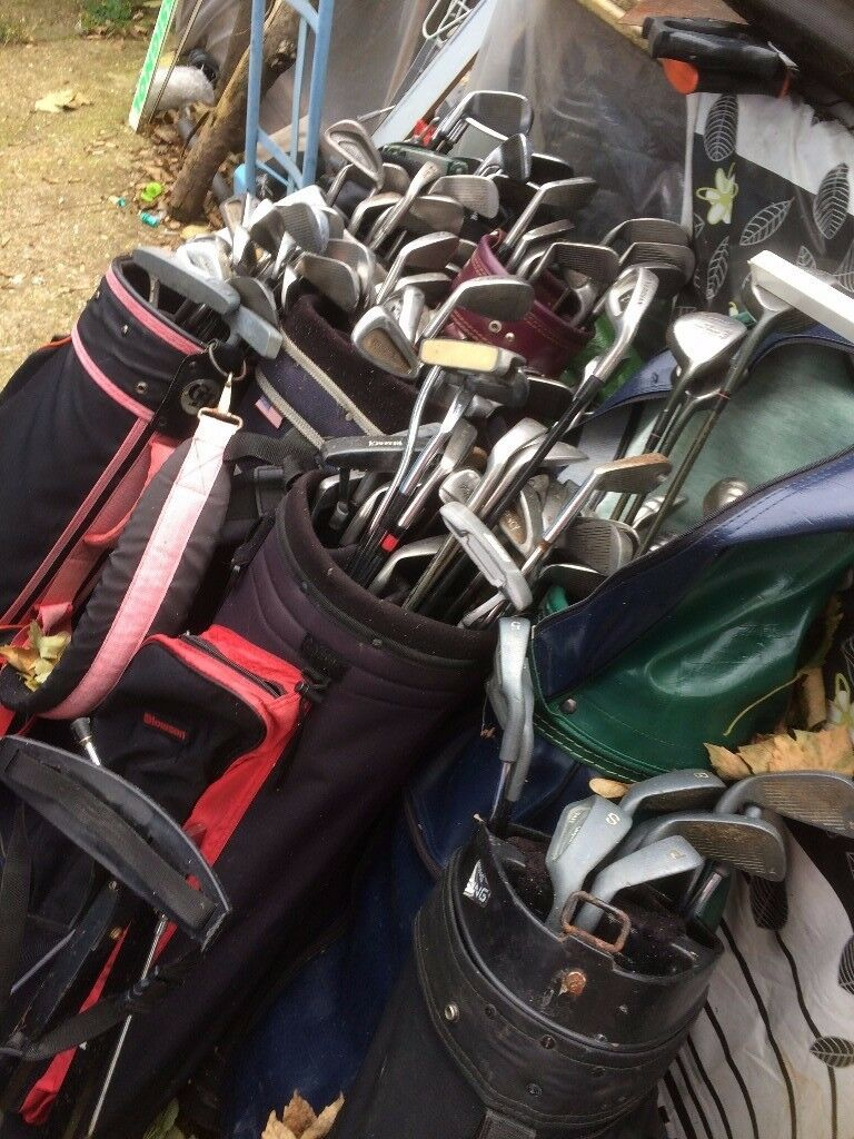 large quantity of clubs