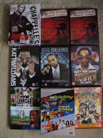 Selection DVD's. Comedy, Hip Hop, etc