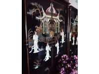 Lovely laquerd oriental mother of pearl pillow wardrobe forsale