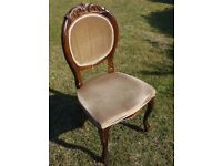 A pair of antique (Queen Anne?) chairs