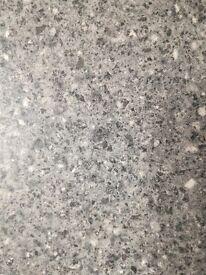 Kitchen work tops 2lengths grey matt finish 62mm width 120mm other 144mm lengths