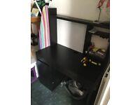 IKEA Micke desk and shelves