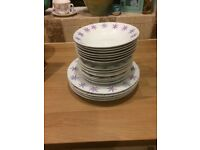 Lilac leaf dinner set with mugs (22 pic)