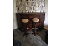 Solid oak BAR. By priory furniture
