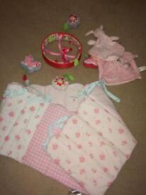 Baby girl cot bundle