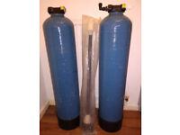 2x 25L Di Resin Vessel Canisters + New Vessel Head w/ Riser (Aquarium/Window Cleaning Equipment)
