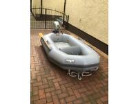 AVON TENDER WITH INFLATABLE FLOOR AND 2.3 HP HONDA 4 STROKE OUTBOARD ENGINE