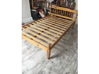 Wood wood frame small double bed for 4ft mattress, with or without mattress