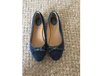 Clarks navy suede size 5 shoes