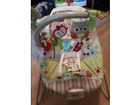 Fisher Price Woodsy friends bouncer - excellent condition, smoke & pet free home