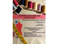 STITCHER/SEAMSTRESS/CLOTHING AND CURTAINS ALTERATIONS