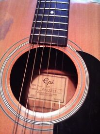 EPI ACOUSTIC GUITAR MODEL D10