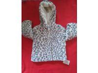 Brand new Girls fur jacket 3-4years