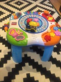 Music and sound baby activity table