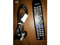 Samsung remote and power cable.