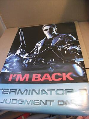 """Terminator 2 Judgement day movie poster 35"""" x 23"""" 1991 *"""