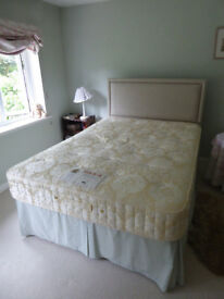 "4'6"" Heiress 4 drawer divan and mattress with headboard double bed"
