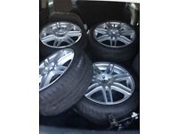 18inch vw alloy wheels with tyres 5stud