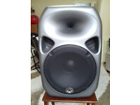 Wharfedale Pro Titan 15 and 12 active speakers and Heavy duty winch speaker stands