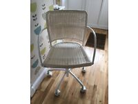 IKEA white swivel chair, height adjustable. Great for up-cycling